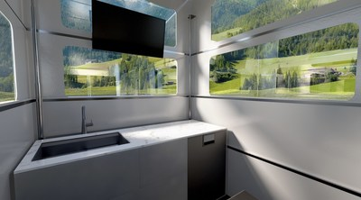CyberLandr Kitchen in Alpine Setting