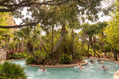 """The winding, lushly landscaped """"Drifters"""" Lazy River is fun for the whole family."""