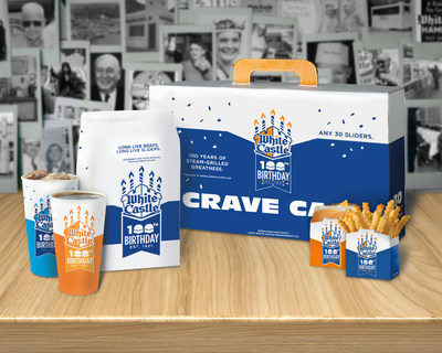 White Castle has special packaging in honor of its 100th birthday.