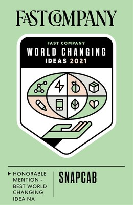 Fast Company World Changing Ideas Badge (CNW Group/SnapCab)