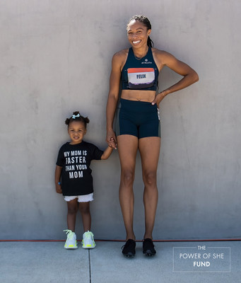 Allyson Felix and her daughter, Camryn. Credit: Athleta
