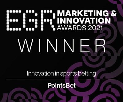 """PointsBet wins """"Innovation in Sports Betting"""" at EGR Marketing & Innovation Awards 2021"""